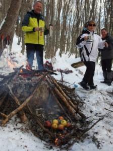 Pommes au feu de bois... un régal!
